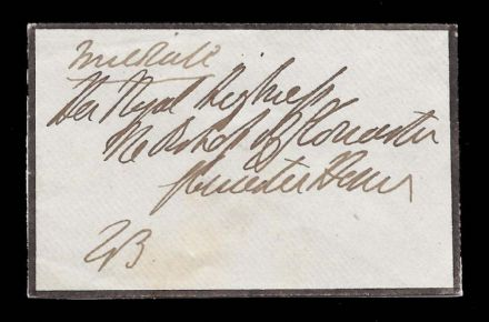 1st Duke of Wellington to the Duchess of Gloucester Cover Handwritten & Endorsed